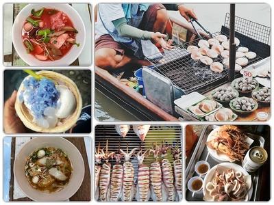 Món ăn chợ nổi Amphawa Thái Lan